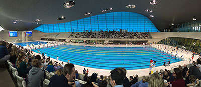 Dwight School London Students at the Olympic Park Pool