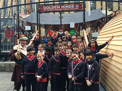 Dwight School London Year 4 Students Trip to Golden Hinde